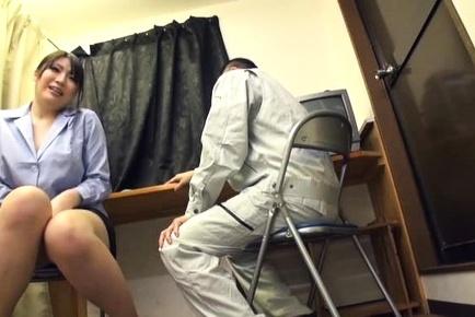 Japanese av model is interviewed by sexy guy for new sex job. Japanese AV Model is interviewed by exciting guy for new sex job